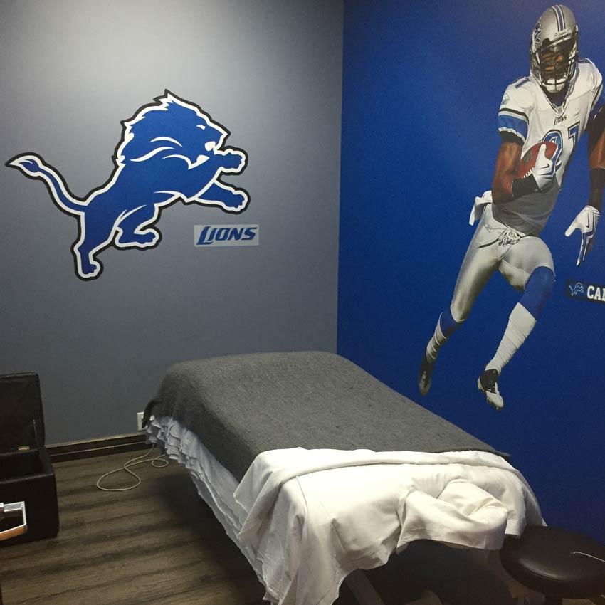 massage room lions